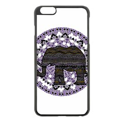 Ornate mandala elephant  Apple iPhone 6 Plus/6S Plus Black Enamel Case