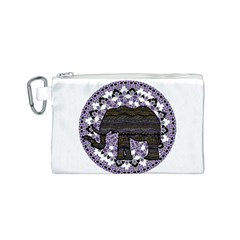 Ornate mandala elephant  Canvas Cosmetic Bag (S)