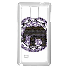 Ornate mandala elephant  Samsung Galaxy Note 4 Case (White)