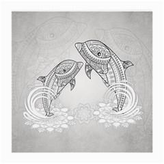Beautiful Dolphin, Mandala Design Medium Glasses Cloth