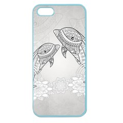 Beautiful Dolphin, Mandala Design Apple Seamless iPhone 5 Case (Color)