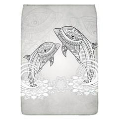 Beautiful Dolphin, Mandala Design Flap Covers (L)