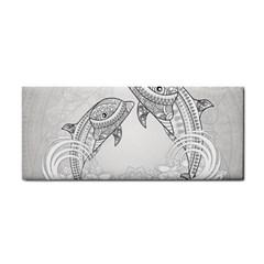 Beautiful Dolphin, Mandala Design Hand Towel