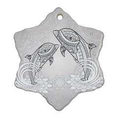 Beautiful Dolphin, Mandala Design Ornament (Snowflake)