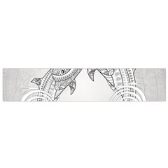 Beautiful Dolphin, Mandala Design Flano Scarf (Small)