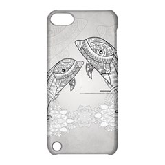 Beautiful Dolphin, Mandala Design Apple iPod Touch 5 Hardshell Case with Stand