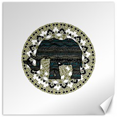 Ornate mandala elephant  Canvas 12  x 12