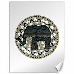 Ornate mandala elephant  Canvas 18  x 24