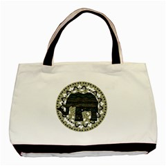Ornate mandala elephant  Basic Tote Bag (Two Sides)