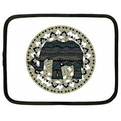 Ornate mandala elephant  Netbook Case (XXL)