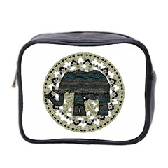 Ornate mandala elephant  Mini Toiletries Bag 2-Side