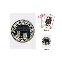 Ornate Mandala Elephant  Playing Cards (mini)