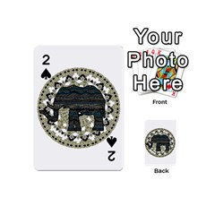 Ornate mandala elephant  Playing Cards 54 (Mini)
