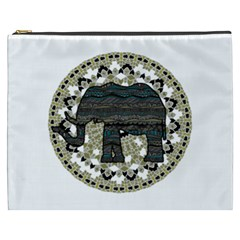 Ornate mandala elephant  Cosmetic Bag (XXXL)