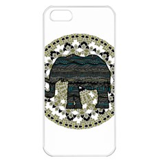 Ornate mandala elephant  Apple iPhone 5 Seamless Case (White)