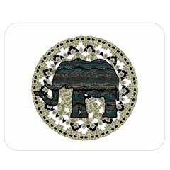 Ornate mandala elephant  Double Sided Flano Blanket (Medium)