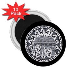 Ornate mandala elephant  2.25  Magnets (10 pack)