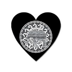 Ornate Mandala Elephant  Heart Magnet