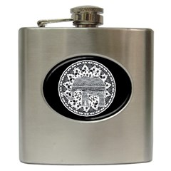 Ornate mandala elephant  Hip Flask (6 oz)