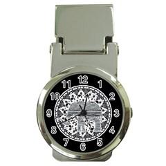 Ornate mandala elephant  Money Clip Watches