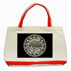 Ornate mandala elephant  Classic Tote Bag (Red)
