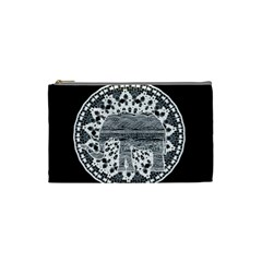 Ornate mandala elephant  Cosmetic Bag (Small)