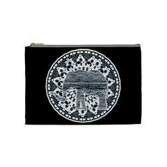 Ornate mandala elephant  Cosmetic Bag (Medium)