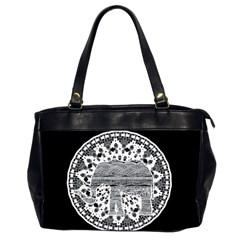 Ornate mandala elephant  Office Handbags (2 Sides)