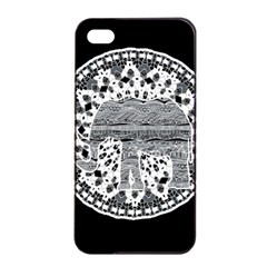 Ornate mandala elephant  Apple iPhone 4/4s Seamless Case (Black)