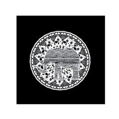Ornate mandala elephant  Small Satin Scarf (Square)
