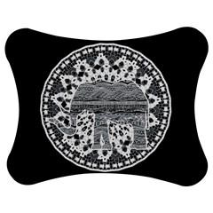Ornate mandala elephant  Jigsaw Puzzle Photo Stand (Bow)