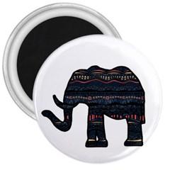 Ornate mandala elephant  3  Magnets