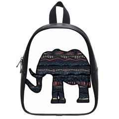 Ornate mandala elephant  School Bags (Small)