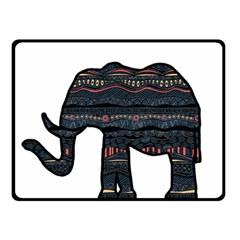 Ornate mandala elephant  Fleece Blanket (Small)