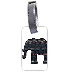 Ornate mandala elephant  Luggage Tags (Two Sides)