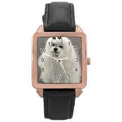 Maltese 2 Rose Gold Leather Watch