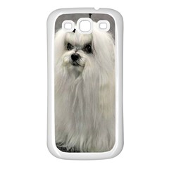 Maltese 2 Samsung Galaxy S3 Back Case (White)