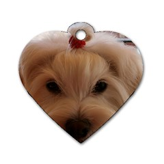 Maltese 3 Dog Tag Heart (two Sides)