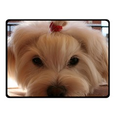 Maltese 3 Fleece Blanket (Small)