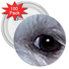 Maltese Eyes 3  Buttons (100 pack)