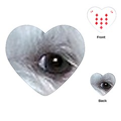 Maltese Eyes Playing Cards (Heart)