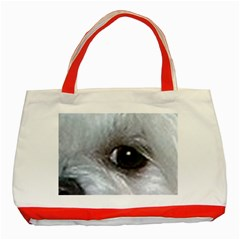 Maltese Eyes Classic Tote Bag (Red)