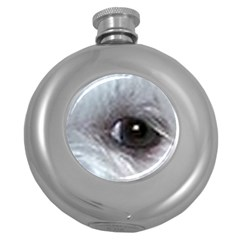 Maltese Eyes Round Hip Flask (5 oz)