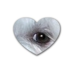 Maltese Eyes Heart Coaster (4 pack)