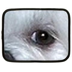 Maltese Eyes Netbook Case (XXL)