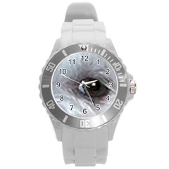Maltese Eyes Round Plastic Sport Watch (L)