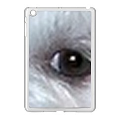 Maltese Eyes Apple iPad Mini Case (White)