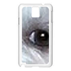 Maltese Eyes Samsung Galaxy Note 3 N9005 Case (White)