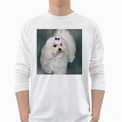 Maltese Full 2 White Long Sleeve T-Shirts