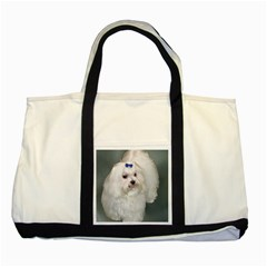 Maltese Full 2 Two Tone Tote Bag